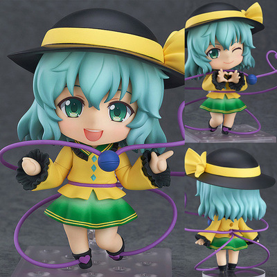 Cute Nendoroid Touhou Project Komeij Koishi 1/10 scale painted so cute 604# PVC Action Figure Collectible Model Toy 10cm free shipping cute 4 nendoroid touhou project flandre scarlet pvc action figure model collection toy 136 mnfg036