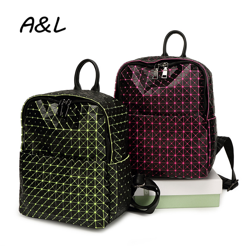 2016 New Fashion Women Backpack Bags Lady Large Capacity Geometry Travel Bag School Backpacks for Teenage Girls Sac a Main A0178 women sequin backpack mochila lentejuelas teenager girl school bags bling bling lady backpacks bolsa feminina sac a main femme