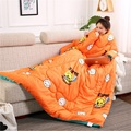Зимний ленивый Стёганое одеяло с рукавами зимний Стёганое одеяло домашний постельное белье Печатный Edredom согревающий зимний пододеяльник с рукавами - фото