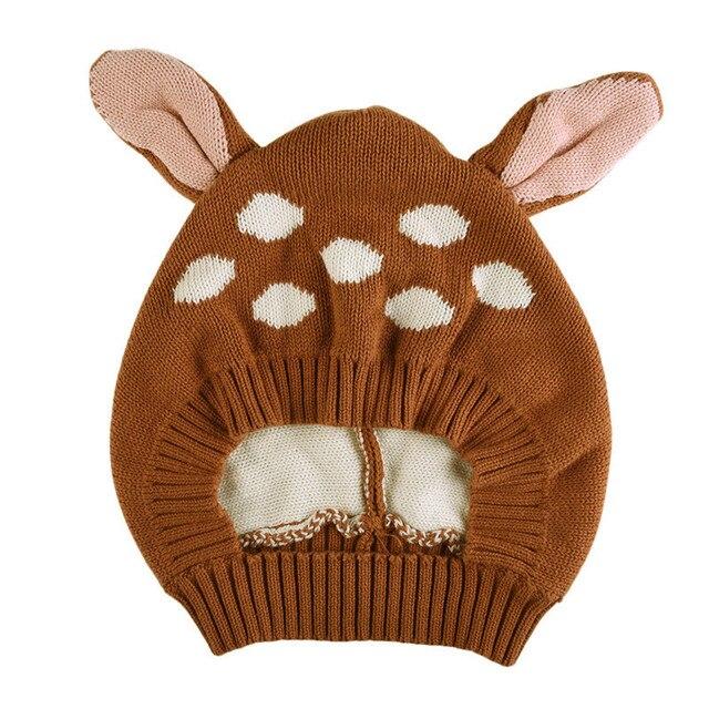 1 Pcs Mignon Bébé Chapeau Renard Oreille Garçons Filles Enfants Casquettes tricoté  Caps Toddler Crochet Bonnet 821b729627d