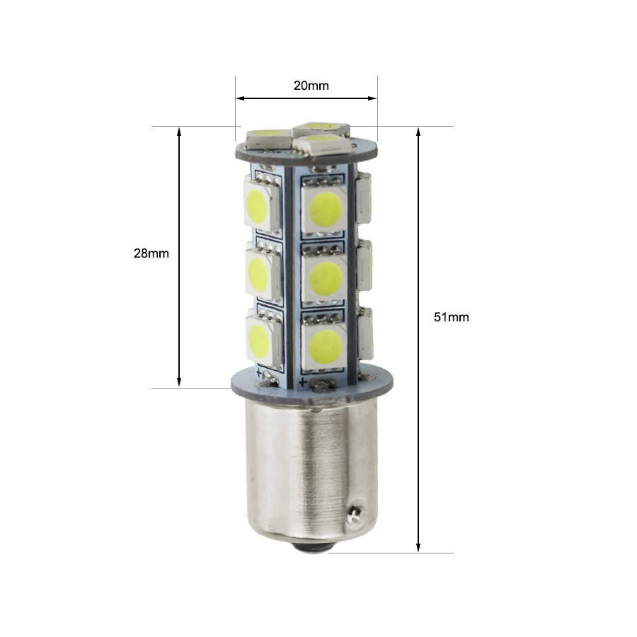 Gfoloza 1156 1157 T20 T25 3157 3156 LED Lamp Car Auto Brake Parking Stop Tail Turn Signal BA15S BAY15D 7440 7443 5050SMD Bulb