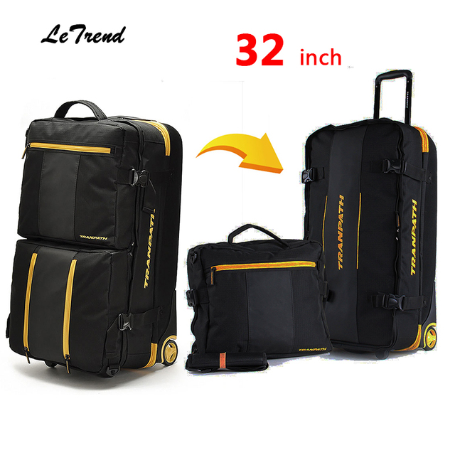 High Quality Men Travel Multi-function Luggage 32 inch High-capacity Rolling Luggage Set Business Travel Bag Checked Luggage