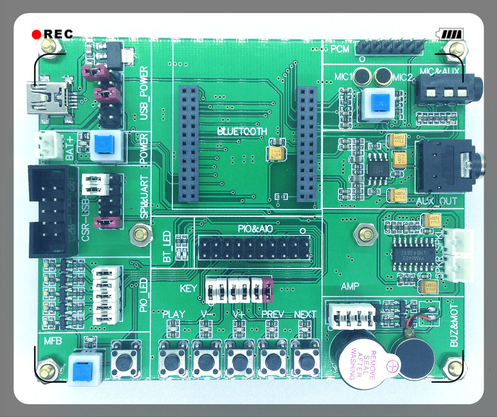 Csr8635 Development Board Information Debugging Microphone Amplifier With Noise Suppression Simulation Aptx Cvc Aac Single Mic Reduction In Fm Transmitters From