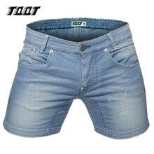 Tqqt männer mode kurze jeans plus größe gerade shorts sofetener material regelmäßige jeans plaid solide low waist jeans 5p0599