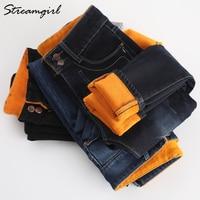 Warm Jeans Women Winter Denim Pants 2018 Female Women Jeans Plus Size Mom Black Winter Jean Femme Stretch Denim Warm Pants