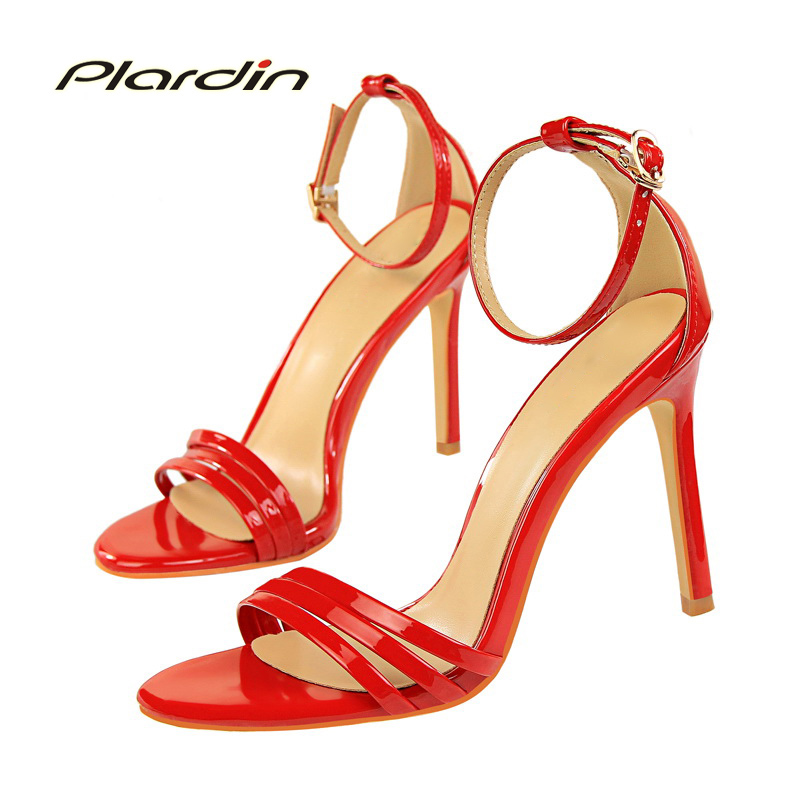 plardin New Summer Shoes Woman Retro Ankle Strap Buckle Strap women Fashion Casual Concise Thin Heels women's pumps ladies shoes xiaying smile summer woman sandals fashion women pumps square cover heel buckle strap fashion casual concise student women shoes