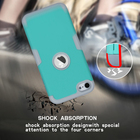 For ipod touch6 Hybrid Duty Hard & Silicone 3 in 1 Shock Proof Case Cover For Apple ipod touch 6 armor case