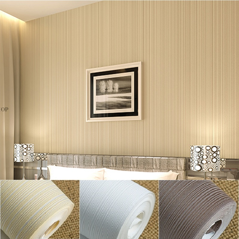 Popular brown stripe wallpaper buy cheap brown stripe - Description of a living room essay ...