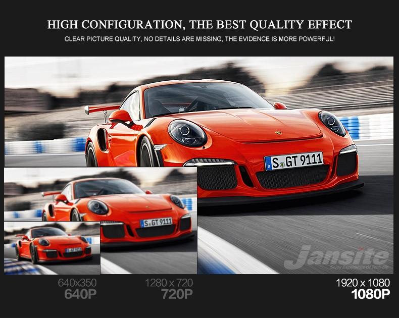 Jansite Car DVR Camera Review Mirror FHD 1080P Video Recorder Night Vision Dash Cam Parking Monitor Auto Registrar Dual Lens DVR 8