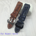 New arrival Quality Genuine Leather Watchband 22x18 mm For Huawei Watch band Colorful Leather Strap Free Tool