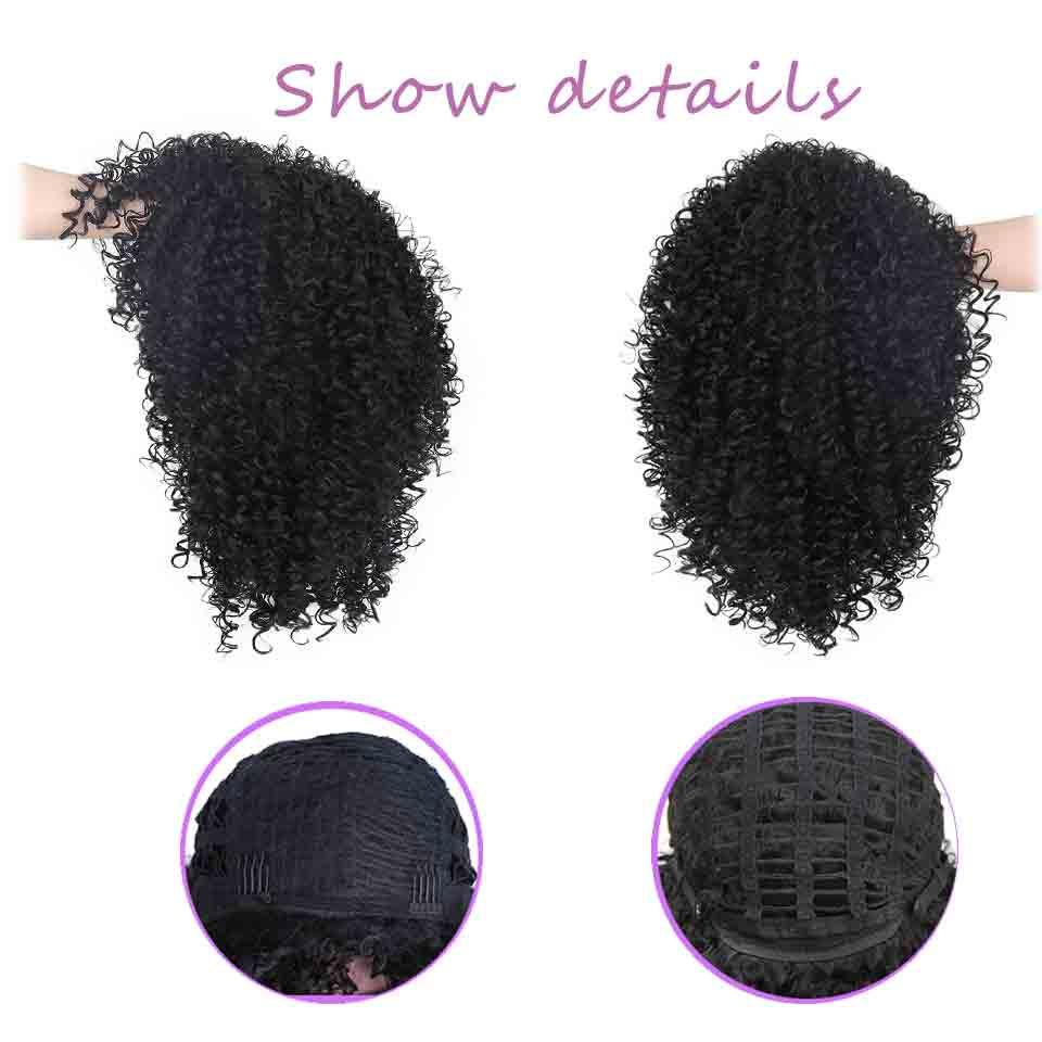AISI HAIR Afro Kinky Curly Wig Syntetiska Paryk till Svart Kvinnor - Syntetiskt hår - Foto 5
