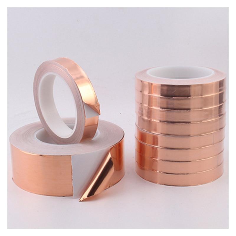20 Meters Single Side Conductive Copper Foil Tape Strip Adhesive EMI Shielding Heat Resist Tape