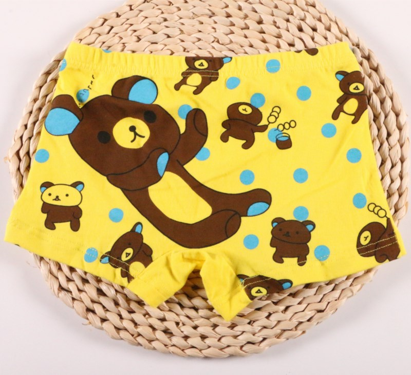 3Pcs/lot Soft Cotton Kids Underwear Cartoon Bear Baby Boys Shorts Panties Boy Boxer Teenager Children's Underwear