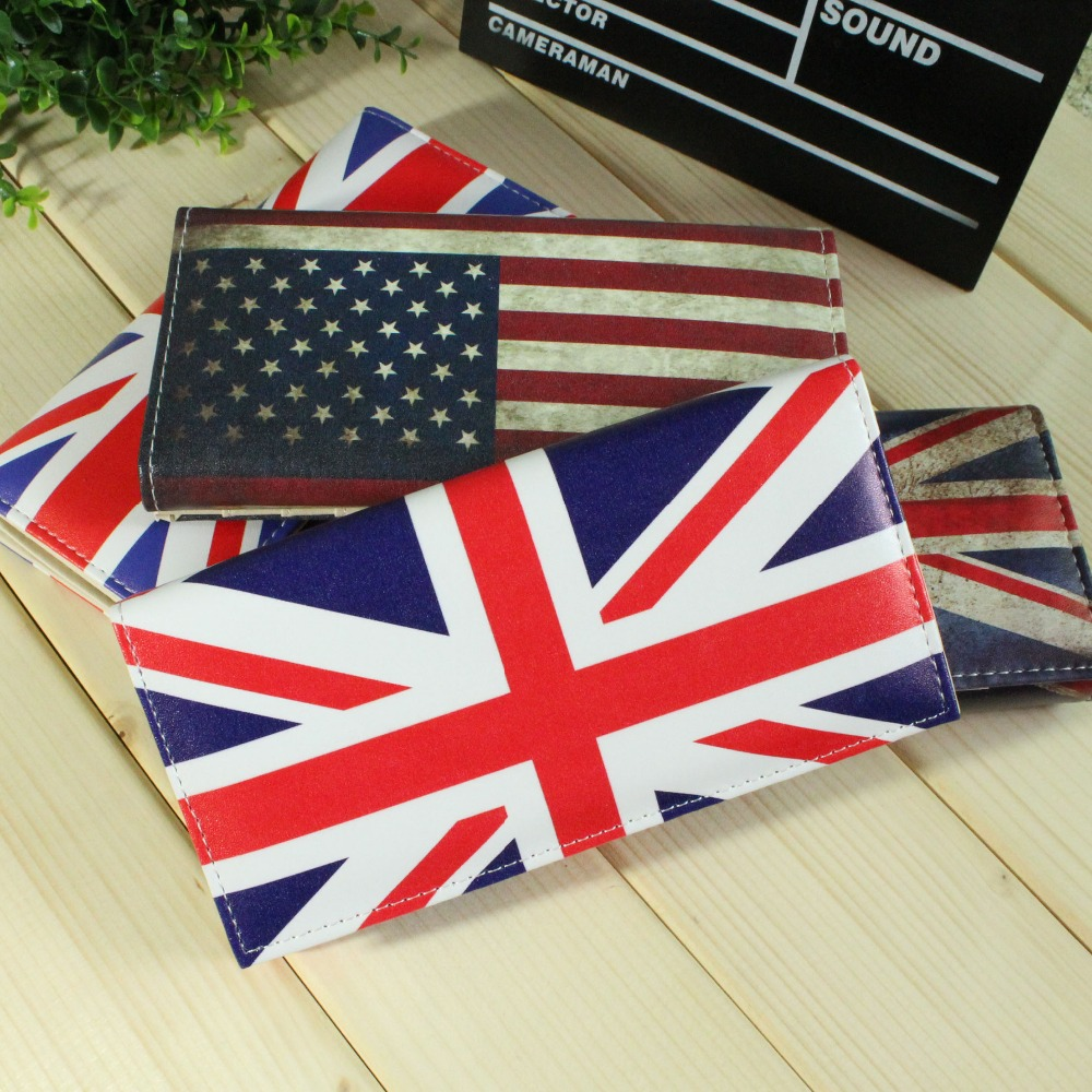 NEW Fashion Lady Purses England American Flag Pattern Women Wallets Cards Holder Zipper Hasp Handbags Moneybag Coin Purse Wallet simline fashion genuine leather real cowhide women lady short slim wallet wallets purse card holder zipper coin pocket ladies