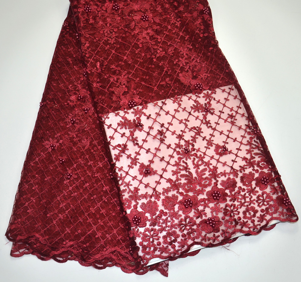 Latest 100% High Quality Wine Tulle lace wedding lace fabric 5 yards For Tradtional Wedding Fabrics Tulle lace fabrics Wine redLatest 100% High Quality Wine Tulle lace wedding lace fabric 5 yards For Tradtional Wedding Fabrics Tulle lace fabrics Wine red