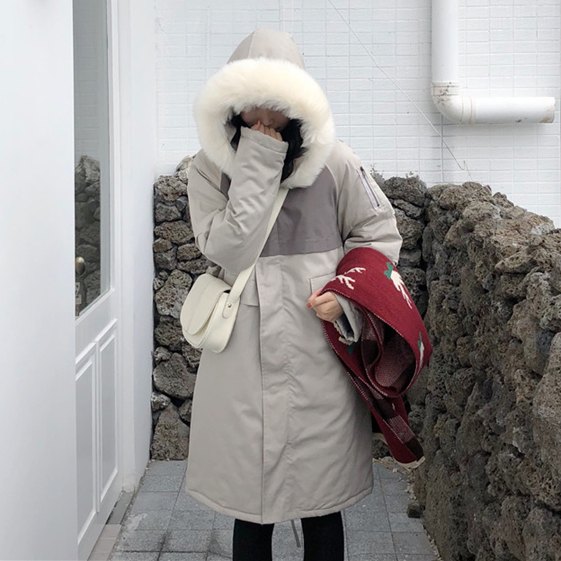 2019 Nieuwe Winter Jas Vrouwen Koreaanse Bontkraag Losse Dikke Katoenen Kleding Casual Kleding Katoen Lange Jas Vrouwen Jas Vrouwen Parka