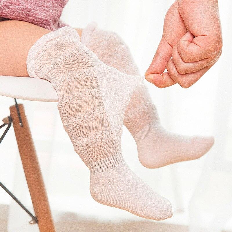 Summer Anti-mosquito Baby socks Mesh Breathable Super Thin Cotton  Boneless Baby Over Knee Socks Infant Knee High Socks