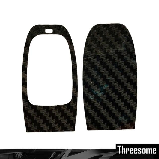Coche-estilo DIY de fibra de carbono Pegatina tecla para AUDI A4 A6 Rs4 A5 A7 A8 S5 RS5 8T A4L A8L Q5 pegatina para llave de coche para Audi A4
