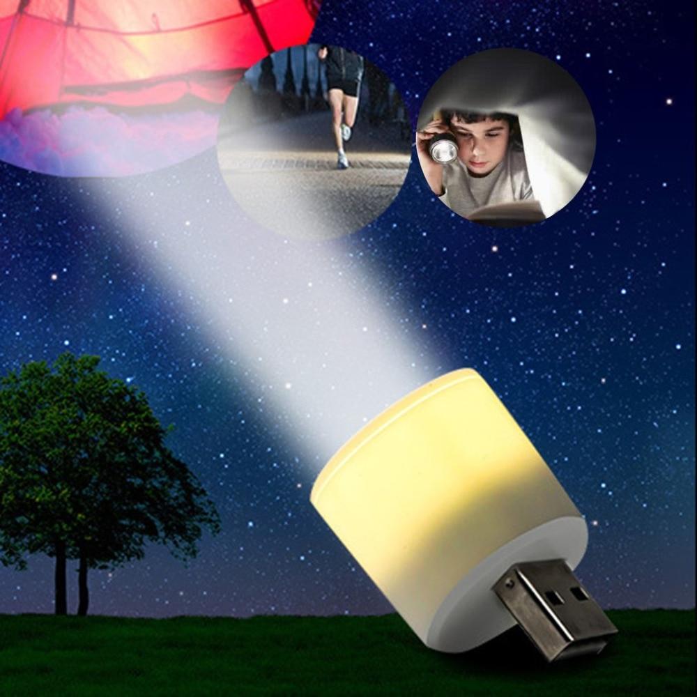 Portable Mini USB Handy Powerful LED Flashlight Rechargeable Pocket Torch Flashlight Bulb Head Outdoor Astigmatism Lamp