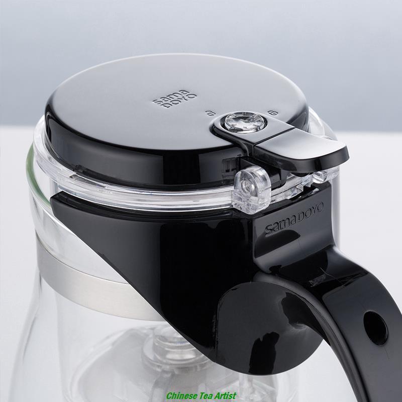 Modernes Design Hitzebeständigem Glas Tee Serving Pitcher mit Eingebautem Brüheinheit /& Deckel 500 ml, borosilikatglas