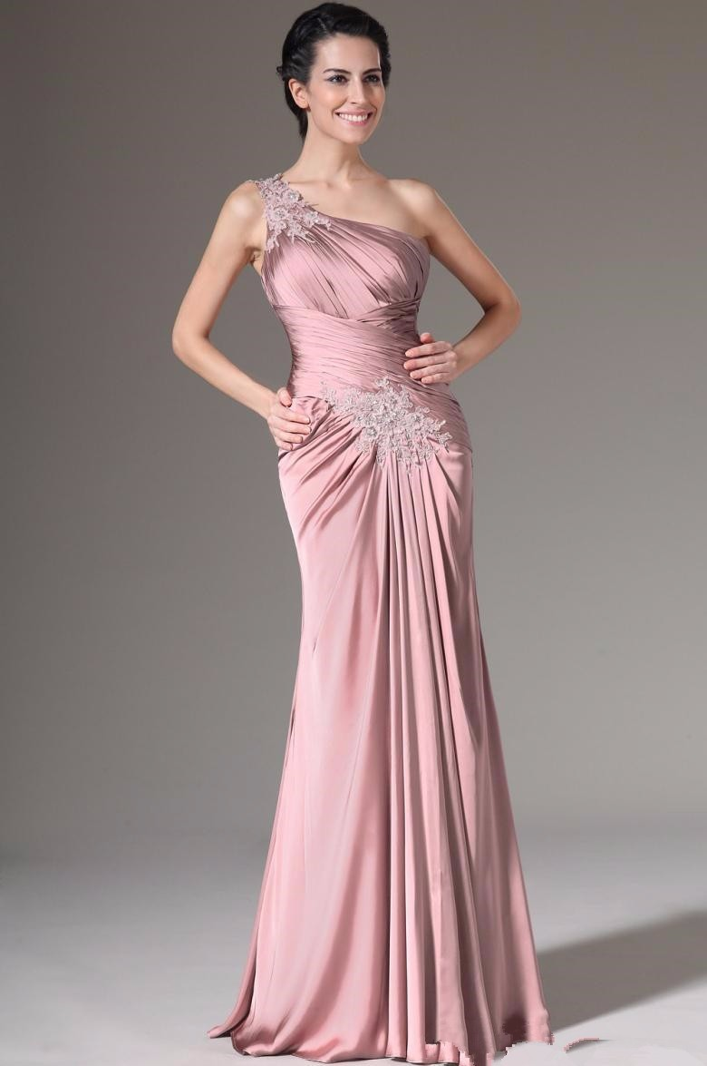 One-Shoulder-Mother-of-the-Bride-Dress-2016-Long-Mother-Dress-with-Jacket-Pleats-Appliques-Evening