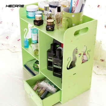 HECARE พลาสติกกล่องเครื่องประดับคอนเทนเนอร์แต่งหน้า Handmade DIY ASSEMBLY Organizer กล่องสำหรับสำนักงาน