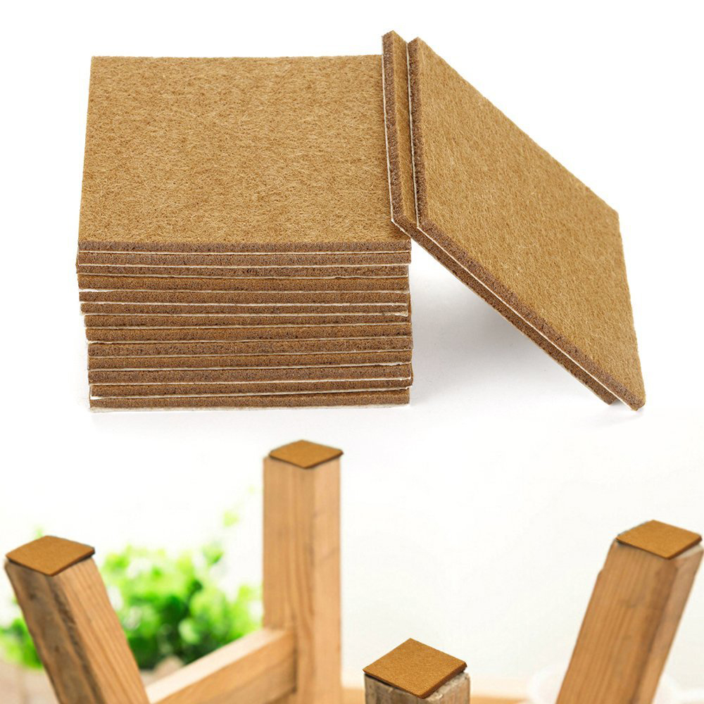 20pcs Furniture Pads Felt Sheets Self Adhesive Wood Floor Protectors 7cmx7cm