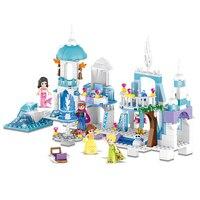 37024 Snow Queen Mermaid Beauty Princess Ice Castle Building Bricks Blocks Sets Toy Compatible With Legoe