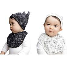 2018 Reusable Washable Cotton Baby accessorie Baby Hat Towel Scarf Feeding Smock Bibs Burp Cloths Baby feeding Bibs GWF19