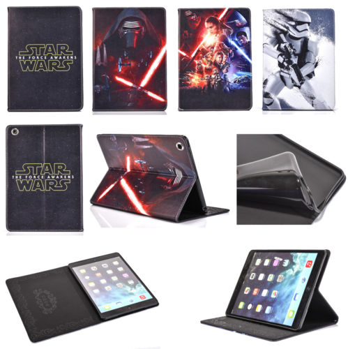 HOT! New Star Wars Slim Folio PU Leather TPU Cover Case Stand for ipad 5/air Various Tablet 1pc