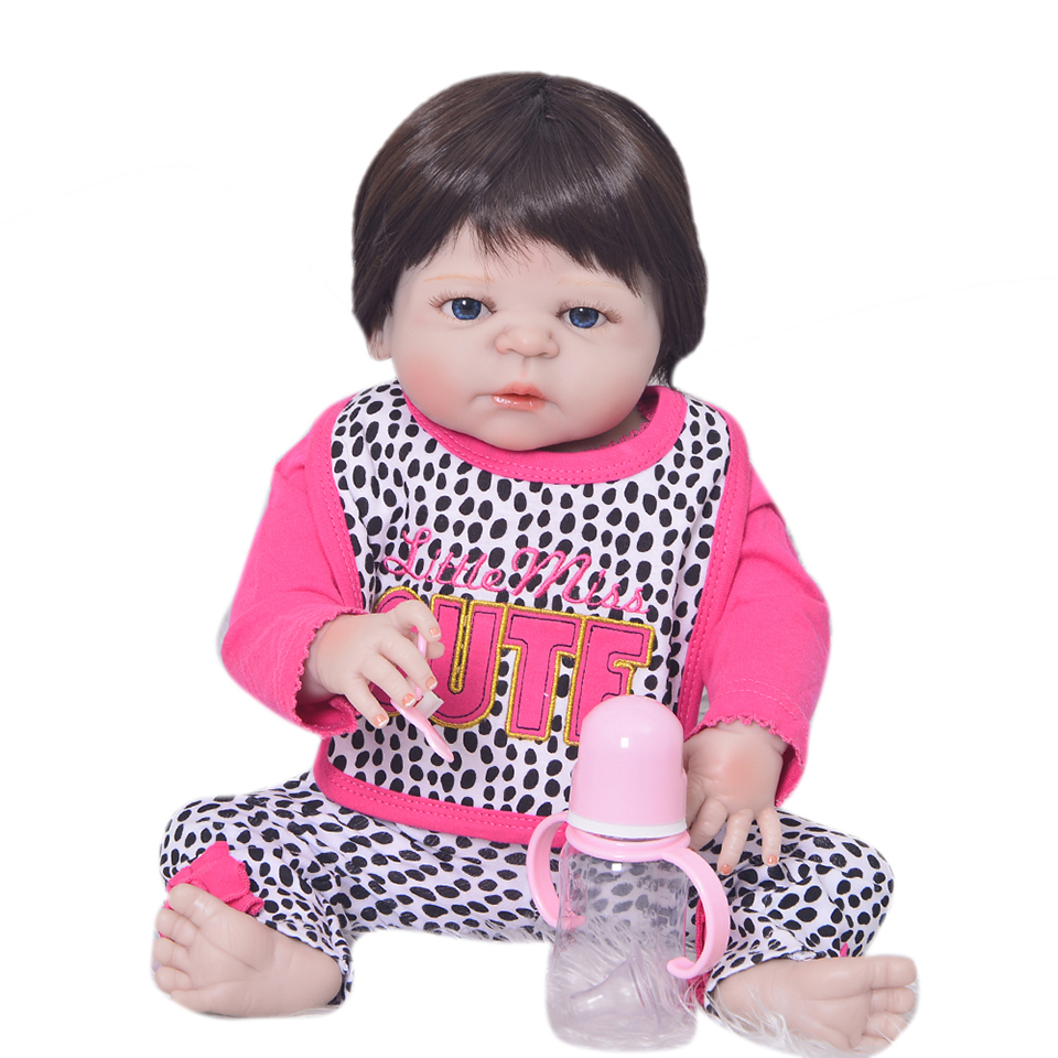 Hot Fashion Vinyl Silicone Body 23 Reborn Baby Dolls Toys For Girl Christmas Gifts Simulation Real life Bebe Boneca RebornsHot Fashion Vinyl Silicone Body 23 Reborn Baby Dolls Toys For Girl Christmas Gifts Simulation Real life Bebe Boneca Reborns