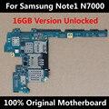 Original 100% oficial desbloqueado placa-mãe para Samsung Galaxy Note N7000 1 16 GB boa placa-mãe de qualidade com Chips placa lógica
