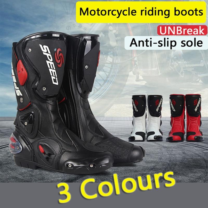 Для мужчин; мотоботы Racing Скорость мотоциклетные ботинки bota Мотокросс загрузки Для мужчин Байк Велоспорт катера ...