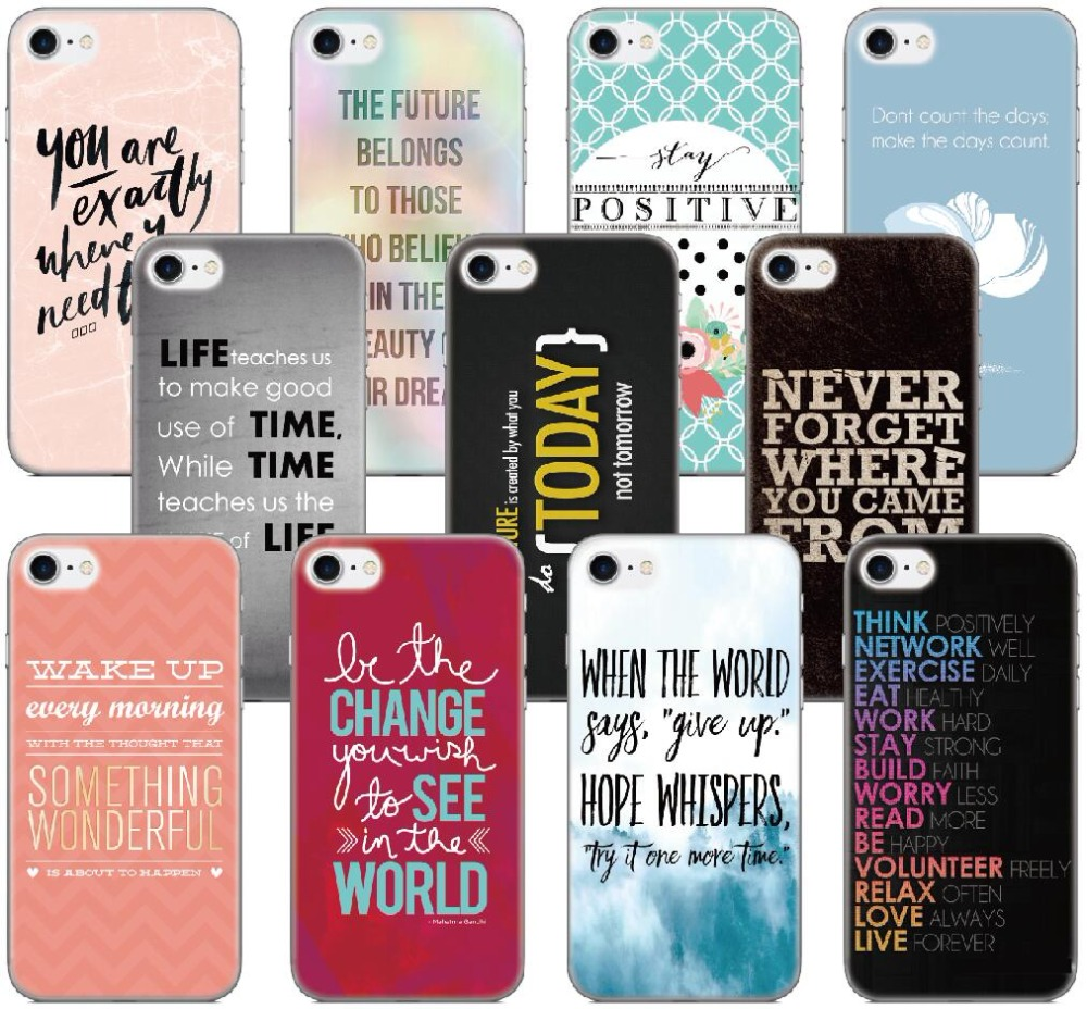 Inspirational Quote Case For Samsung Galaxy A5 A7 2018 Version S9 Plus S5 S6 S7 Edge Note 3 4 5 E5 Phone Cover Capa Coque Bumper