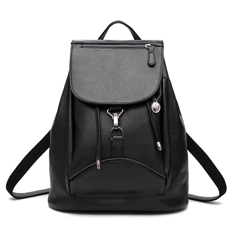 ФОТО Women Leather Backpack Preppy Style School Bags For Teenagers String Daily Soft Backpack Women Shoulder Bag 2016 Bolso Mujer