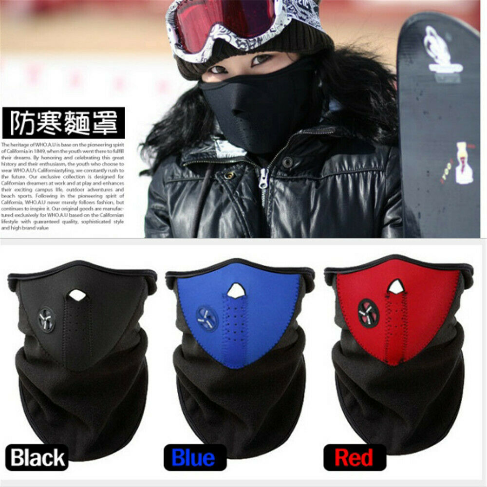 Motorcycle Half Face Mask Cover Anti-dust Cycling Snowboard Ski Outdoor Sports Windproof Warm Winter Neck Face Mask