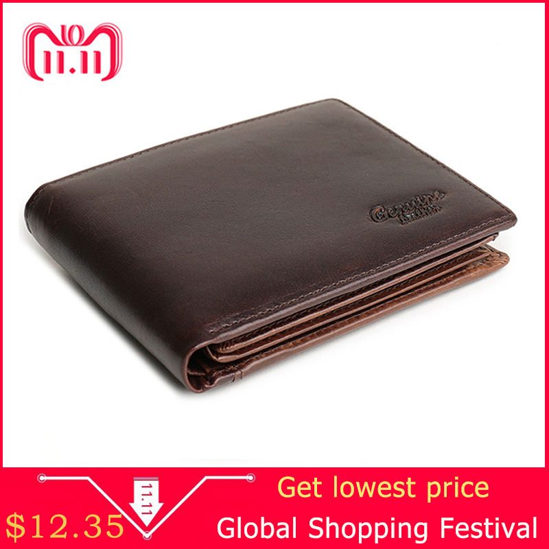Men Wallet Cowhide Genuine Leather Purse Money Clutch Card Holder Coin Short On Cover Black Dollar Price 2017 Male Cash Wallets men wallet genuine leather women card coin holder money clip hot sale short casual high quality photo dollar price male purse