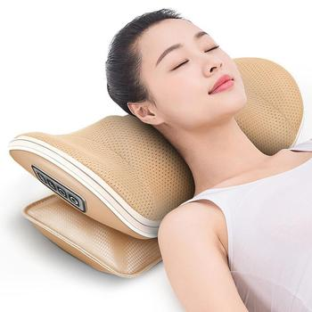Automatic Kneading Heated Neck Massage Pillow Home Sleeping Rest Cushion Pad New