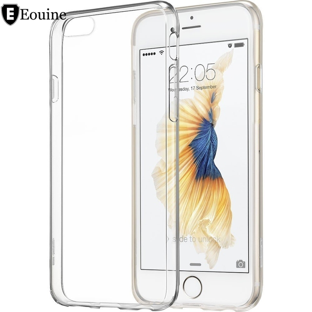 8877fb6f72a Ultra Thin Soft TPU Gel Transparent Crystal Clear Silicon Cover for iPhone  4 4S 5 5S SE 5C 6 6S 7 Plus Case fundas coque