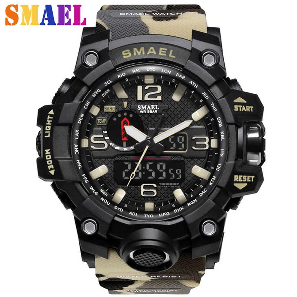 2017 Newest Hot Sell Sport Men Digital Watch Men Led Camouflage Waterproof WristWatch Wrist Outdoor Army Male Relogio Masculino free drop shipping 2017 newest europe hot sales fashion brand gt watch high quality men women gifts silicone sports wristwatch