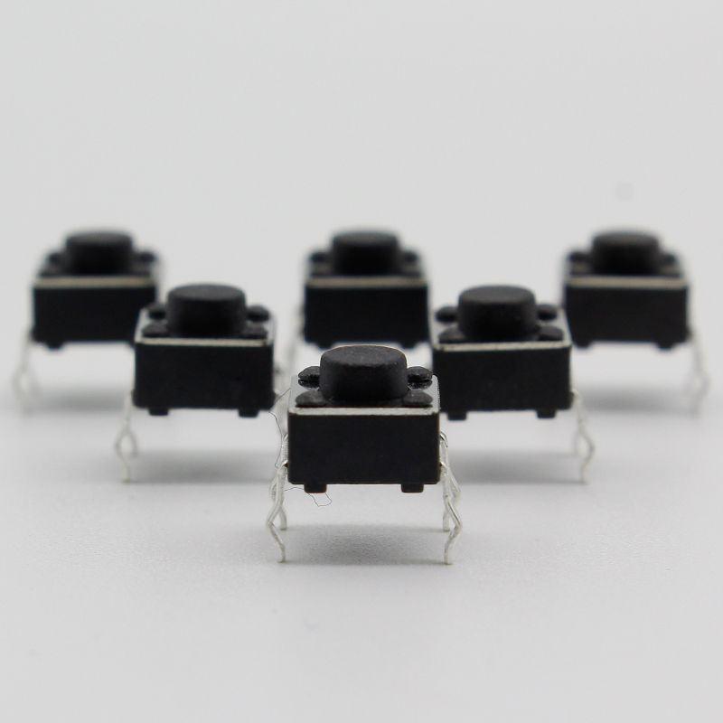 50pcs/lot 6x6x5MM 4PIN G90 Tactile Tact Push Button Micro Switch Direct Self-reset DIP Top Copper  Russia
