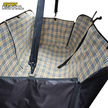 CANDY KENNEL Plaid Dog Carriers Waterproof Rear Back Pet Dog Cat Car Seat Cover Mats Hammock Protector With Safety Belt D1059
