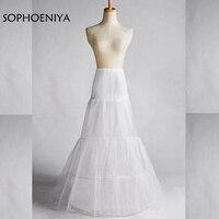 New Arrival White Wedding Bridal Mermaid Petticoat Underskirt Jupon Vestido Branco Wedding Petticoat Woman 2018