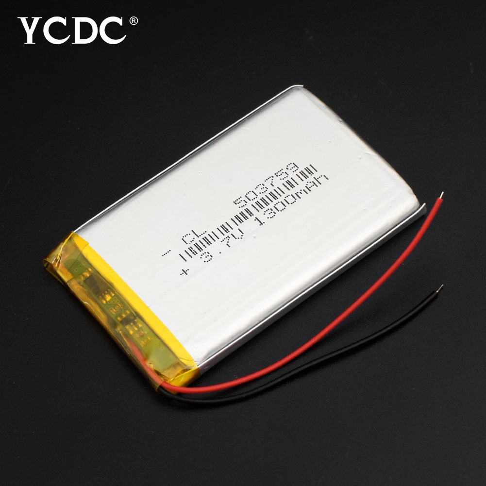 Ambitious Size 503759 3.7v 1300mah Lithium Polymer Battery With Protection Board For Gps Bluetooth Digital Products 59x37x5mm High Quality Relieving Rheumatism And Cold Power Source