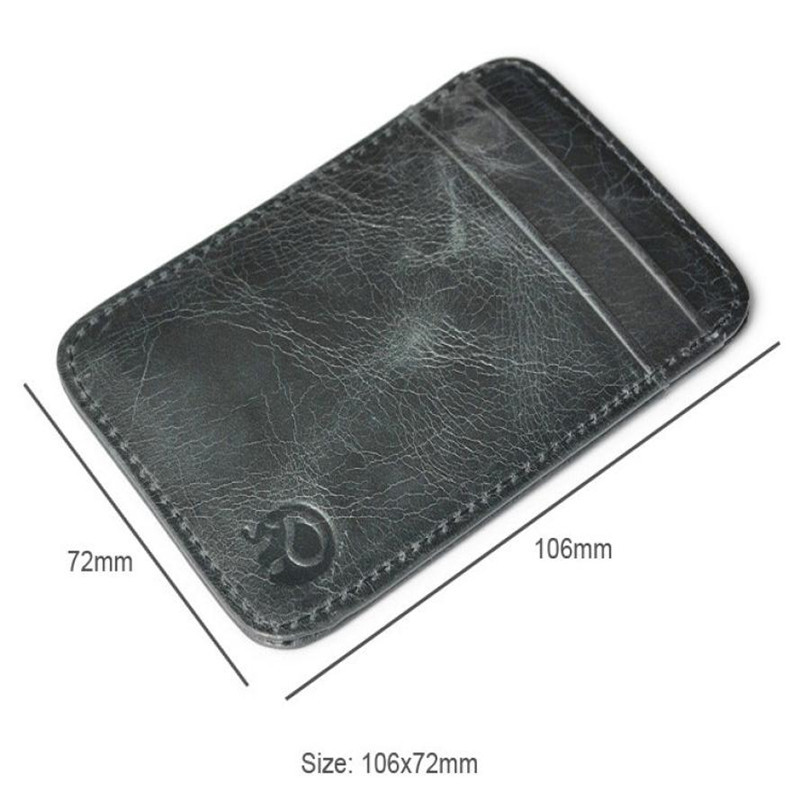 Slim credit card holder mini wallet id case purse bag pouch black slim credit card holder mini wallet id case purse bag pouch black business card holders bags case wallet box for women men in card id holders from luggage reheart Choice Image