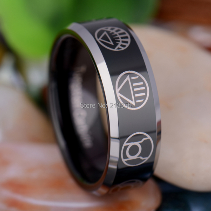 USA Hot Selling EC TUNGSTEN JEWELRY 100 GOOD QUALITY 8MM SILVER PIPE JESUS FISH MENS WEDDING BAND RING