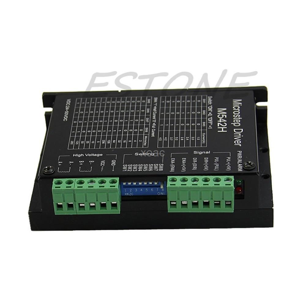 CNC Micro-Stepping Stepper Motor Driver M542/DM542 Bi-polar 2Phase 4.5A Switch M08 dropship цена