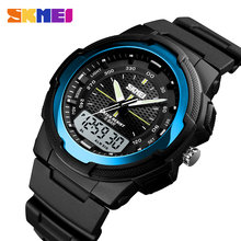 Men Military Watches Army Men's Wristwatch LED Quartz Watch Digtial Dual Time Men Clock reloj hombre Sport Watch(China)
