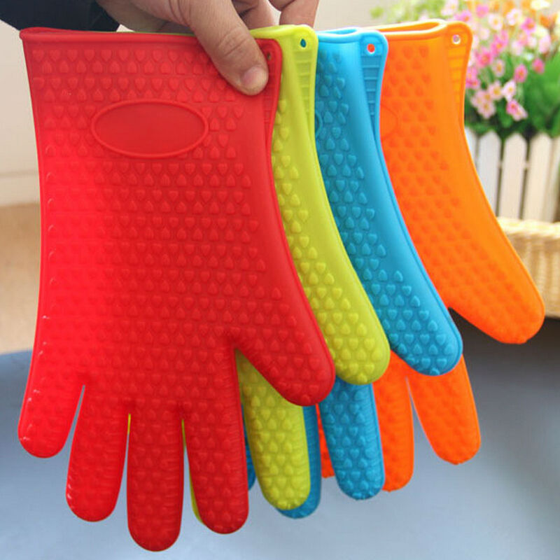 1 PCS Kitchen Cooking Microwave Oven Non-slip Mitt Silicone Insulated Glove Colorful Kitchen Accessories cocer en el horno AU335