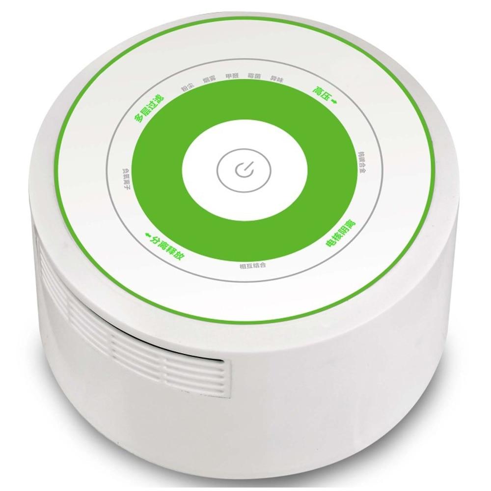 ФОТО DC/USB Mini room/office Hepa air purification box 5-8million/cm3 negative ion smoke free